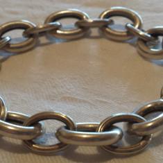 Bratara argint Vintage cu Zale mari executata manual Masiva Impunatoare de Efect