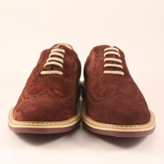 Candrani Liverpool Bordo - Pantof barbat Candrani, Piele naturala, Eleganti