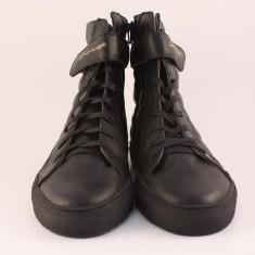 Candrani Sneakers Max Snow Negru - Pantofi barbati Candrani, Piele naturala