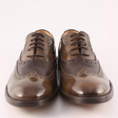 Candrani Oxford Vernice TDM si Peru TDM - Pantofi barbat Candrani, Piele naturala