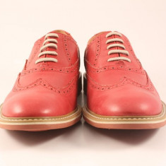 Candrani Liverpool Gordon Rosu - Pantofi barbati Candrani, Piele naturala, Eleganti