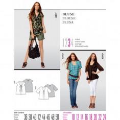 Tipar croitorie Bluza Burda Style 7521