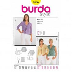 Tipar croitorie Bluza Burda Style 8806