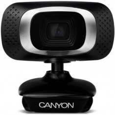 Camera web Canyon CWC3, Full HD, CMOS 2MP, Negru - Webcam
