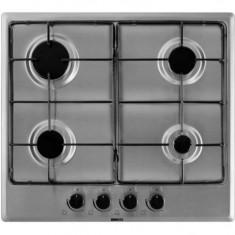 Plita incorporabila pe gaz Beko 4 arzatoare 7400 W inox HIMG64223-1SX, Argintiu, Numar arzatoare: 4