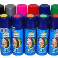 SPRAY COLORAT PENTRU PAR - ARGINTIU - Face painting copii