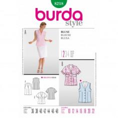 Tipar croitorie Bluza Burda Style 8218