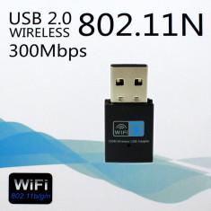 Adaptor USB wireless 300Mbps Mini Wi-Fi 300M 802.11n/g/b FT - Adaptor wireless