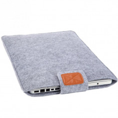 "Husa de protectie din pasla pt laptop Apple MacBook Air / Pro / Retina 15"" inch, Gri"