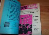 Revista Radiotelescoala (radio tele scoala) patru numere 1975