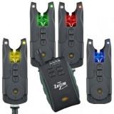 Set 4 Avertizori Senzori  + statie Carp Zoom 6th Sense Bite Alarms New CZ7963, Swingere