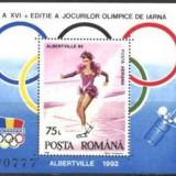 Romania - JOCURILE OLIMPICE DE IARNA ALBERTVILLE 1992, colita dt MNH, Z1274 - Timbre Romania, Nestampilat