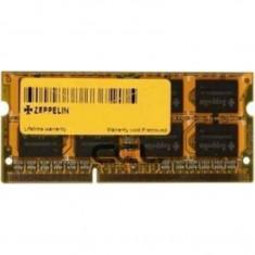 Memorie RAM Zeppelin, 8 GB, DDR3, 1600 Mhz, 1.35V, SODIMM