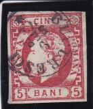ROMANIA1871 , L P 30 , CAROL  I  CU  BARBA  VALOAREA  5 BANI  CARMIN  , LOT 1 RO, Stampilat