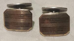 Butoni de Camasa argint si aur 585 Vechi executati manual Eleganti Finuti