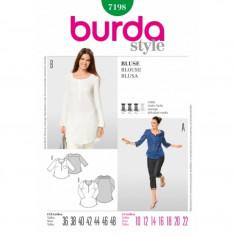 Tipar Bluza cu nasturi Burda Style 7198