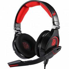 Casti gaming ThermalTake Tt eSPORTS CRONOS Negru - Casca PC Thermaltake, Casti cu microfon, USB