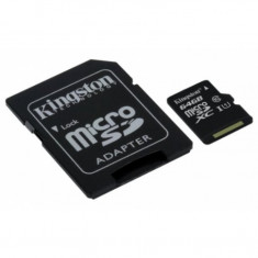 Card de memorie Kingston micro SDHC 64GB Clasa 10 UHS-I U1 adaptor SD