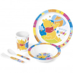 Set pentru masa melamina 5 piese Winnie the Pooh Lulabi
