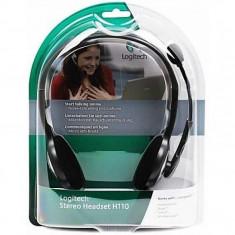 Casti audio Logitech H110, 3.5 mm Jack, Peste cap, Argintiu - Casca PC
