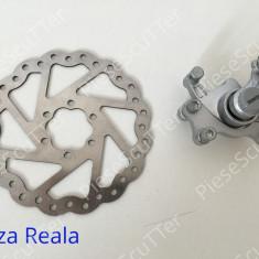 Etrier Complet Frana Fata + Disc Frana 140mm Bicicleta - Piesa bicicleta