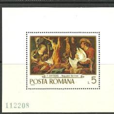Romania 1970 -  PICTURA VANATOARE, colita nestampilata, D20
