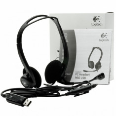 Casti Logitech PC Headset 960 - Casca PC Logitech, USB