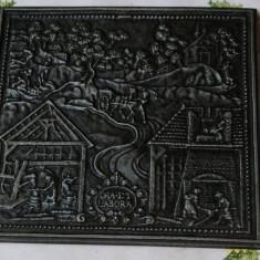 TABLOU DIN METAL MASIV, Buderus 1731 - Metal/Fonta, Ornamentale