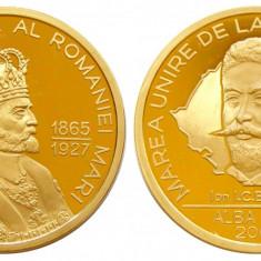 G961 FERDINAND MAREA UNIRE 1918 I.C. BRATIANU 2008 BRONZ PROOF - Medalii Romania, An: 1997