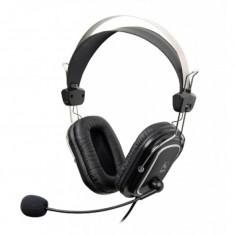 Casti audio A4Tech HS-50, Peste cap, 3.5 mm Jack, Microfon, Negru - Casca PC