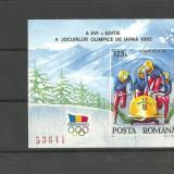 Romania - JOCURILE OLIMPICE DE IARNA ALBERTVILLE 1992, colita ndt MNH, Z1274 - Timbre Romania, Nestampilat