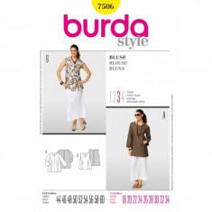 Tipar croitorie Bluza Burda Style 7506