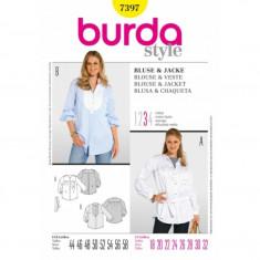 Tipar Bluza si jacheta- stil bluza-camasa
