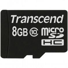 Card de memorie Transcend Micro SDHC 8 GB Clasa 10 - Card Micro SD