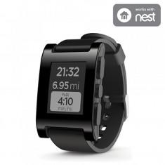SmartWatch Pebble Original 301BL negru - Pebble Smartwatch