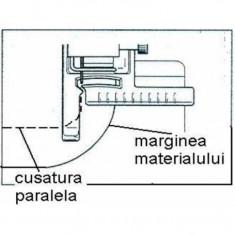 Piciorus ajutator pentru cusatura paralele cu marginea materialului sau a unei cusaturi existente