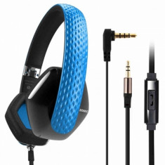 Casti Somic Milano M4 Striking Blue, Casti On Ear, Cu fir, Mufa 3, 5mm, Active Noise Cancelling
