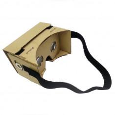 Ochelari realitate virtuala 3D Google Cardboard VR pt smartphone + prindere cap