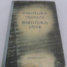 PARTITURA OLVASAS*PARTITURA JATEK/ NAGY OLIVER/ 1954
