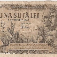ROMANIA 100 LEI 5 DECEMBRIE 1947 U - Bancnota romaneasca