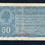 Romania 50 Bani 1917 - Bancnota romaneasca