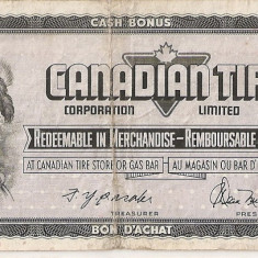 CANADIAN TIRE CORPORATION LIMITED 25 CENTS CENTI VF ND - bancnota america, An: 1975