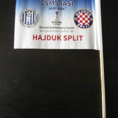 CSMS Iasi - Hajduk Split (14 iulie 2016) / stegulet de meci - Program meci
