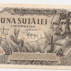 ROMANIA 100 LEI 5 DECEMBRIE 1947 AUNC - Bancnota romaneasca
