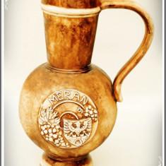 CARAFĂ VECHE ȘI ÎNALTĂ, CONFECȚIONATĂ MANUAL DIN CERAMICĂ MASIVĂ - APROX. 1 KG! - Arta Ceramica