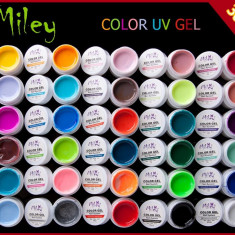 Set  Gel Geluri  Color  MILEY  30 Buc pt unghii false lampa uv, Gel colorat