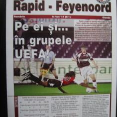 Rapid Bucuresti - Feyenoord Rotterdam (29 septembrie 2005) / program de meci - Program meci