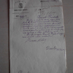 DOCUMENT SEMNAT OLOGRAF DE PRIMARUL BUCURESTIULUI, 1901 - Brevet
