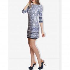 Rochie Dama. Model Blue Star - Rochie de zi Raspberry, Marime: 32, 34, 38, 40