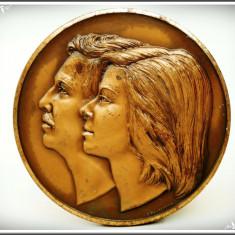 VECHE MEDALIE ITALIANĂ DE BRONZ - E.S. 12 MAGGIO (MAI) 1975, GERTONI, MILANO!, Europa
